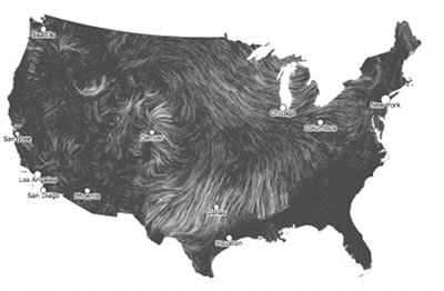 US wind map